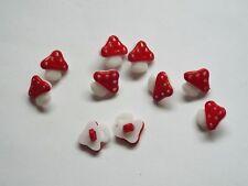 10pc 14 mm rojo seta forma ficticias niños bebé niños bucle botón 1544