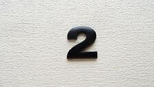 NUMBER 2 FULL METAL BLACK 3D SELF-ADHESIVE CAR BADGE HOME EMBLEM STICKER