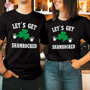 St Patricks Day T shirt Happy St Patricks Day Tshirt LET'S GET SHAMROCKED 259