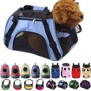 Pet Dog Carrier Puppy Mesh Portable Backpack Travel Front Shoulder Bags Handbag