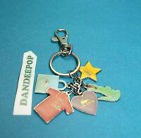 Lacoste 5 Charm Keychain Handbag Keys Accessory With Tags