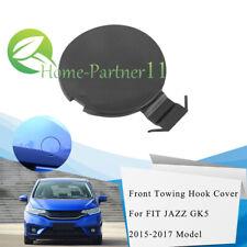 Black New Front Bumper Tow Hook Cover Cap For Honda Fit 2015-2017 2016