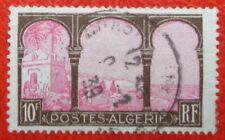 Algérie oblitéré, n°84, 10F brun et rose, vue d'Alger, 1927