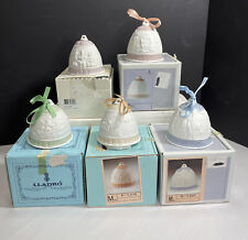Lladro Christmas Bells Ornaments 1987 - 1991 Set of 5 With Boxes