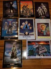 Lot 8 Vintage Doctor Who Laminated Poster 12x16 GC Curse of the Galaxy