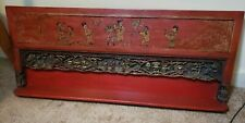 antique chinese shelf lacquer gilded & carved and painted
