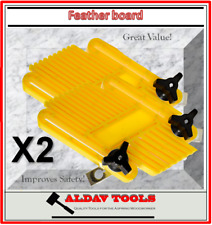 Featherboard x 2, Mitre Miter and T-Slot Fixture Set, Table Saw Feather Board