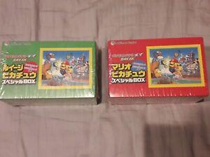 Pokemon Card Mario Pikachu & Luigi Pikachu Special BOX Pokemon Center Limited