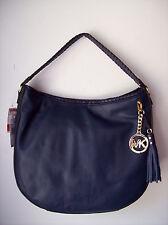 Michael Kors Large Bennet Shoulder Bag in Navy Leather MSRP $348.00