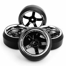 4 Pcs Drift Tire Wheel Rim Offset 6mm PP0104+PP0367 For HSP 1:10 RC On-Road Car
