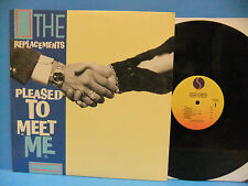 The Replacements Pleased To Meet Me 1987 NM- Record Sire 1-25557 Paul Westerberg