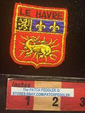 LE HAVRE France Tourist Patch ~ Dragon Fleur-de-lis 63Z7