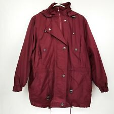 0a58c18863784 Women Within Burgundy Ski Coat Jacket with removable Wool Liner Size M LNC  Hoody