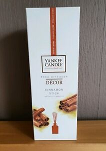 """NEW & SEALED YANKEE CANDLE REED DIFFUSER  DECOR """"CINNAMON STICK"""" 170ml"""
