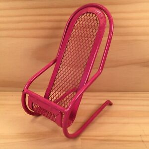"""DECK CHAIR """"Hot Pink"""" Novelty Shaped Teddy Bear Chair Mini Toy Holder Display"""