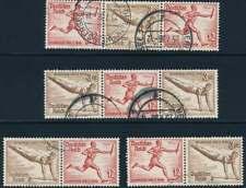 D.Reich Zusammendruck W 107, 108, 109 + 110 gestempelt, Olympiade 1936 (54986)