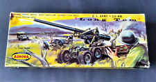 "Vintage 1958 1/48 (1/4 scale) U.S. Army Aurora 155mm ""Long Tom"" Cannon model kit"