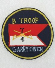 Army Patch: B Troop, 4th Squadron, 7th Cavalry Regiment - Korean made