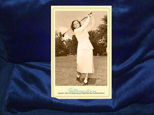 BABE DIDRIKSON Olympic Athlete Golf Champion Cabinet Card Photo Autograph LPGA