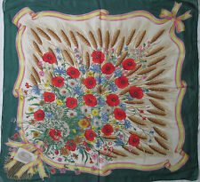 -Superbe Foulard en mousseline  GUCCI by V. ACCORNERO  soie  TBEG vintage scarf