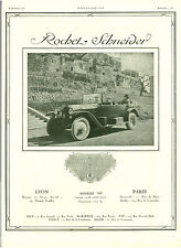 Publicité Ancienne  Voiture Rochel  Schneider  1920