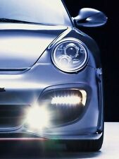Porsche 997 Turbo GT2 SMOKED LED DRL turn signal daytime running lights