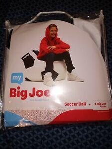 My Big Joe Kids Soccer Ball White Black Bean Bag Chair Cover Game Toy Room New