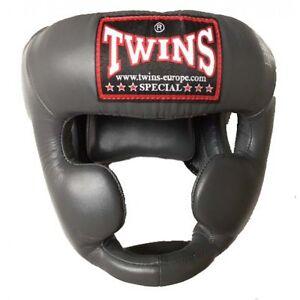 Twins Trainings Kopfschutz HGL 3. Jochbeinschutz. Kickboxen. Muay Thai. In grau.