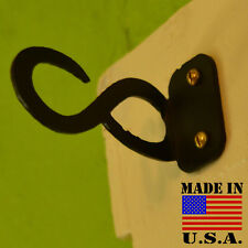"Infinity Symbol Curtain Rod Holders for 1/2"" Plumbing Pipe Black Double Bracket"
