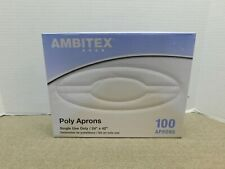 Ambitex Poly Aprons Box of 100- New