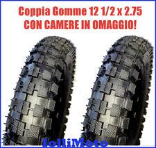 COPPIA GOMME + CAMERE OMAGGIO 12 1/2 X 2.75 MINICROSS MINIMOTO MINI CROSS PIT BI