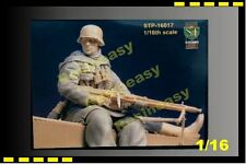 Vintage S&T 1/16 Figure Panzer Grenadier seated w/MG-42 Kharkov - STP16017