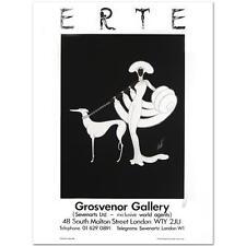 """ERTE HAND SIGNED  """"EBONY IN WHITE"""" FINE ART POSTER  COA, 24X32"""