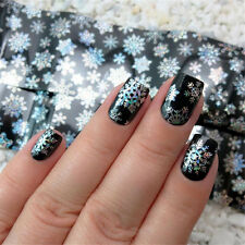 1Pc Nail Art Transfer Foils Sticker Christmas Snowflake Holographic Paper Decor
