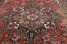 9X12 1940's EXQUISITE ELEGANT FINE ANTIQUE HAND KNOTTED HERIZZGEOMETRIC WOOL RUG