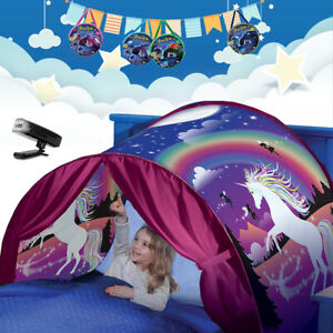 Dream Tents Pop up Unicorn Foldable Kids Children Bed Playhouse Indoor Home Camp