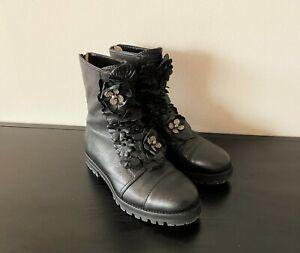 Edle Damen Stiefelette von JIMMY CHOO - 37.5 - black ankle boots ~ 1190€
