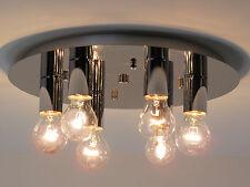 lampadario plafoniera moderna metallo cromato bagno cucina salone CLOE P6 C E27