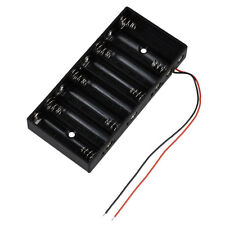 8 X 1.5V AA 2A CELL Battery Plastic Holder standard 12V Case PF Wire Stor oolk