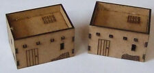 2 North African Single Storey Adobe Dwellings MDF 15mm Scale, DBMM FOG FOW