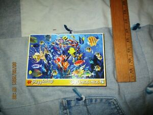 PUZZLEBOX JIGSAW PUZZLE TROPICAL FISH - 300 PIECE , NEW SEALED BOX!