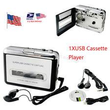 USA Stock USB Cassette Tape to MP3 iPod CD Converter Capture Audio Music Player