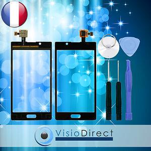 Vitre ecran tactile pour LG Optimus L7 P700 noir + stickers pré installé +outils
