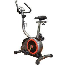 ENJOYFIT Heimtrainer Ergometer Fitnessbike Fahrradtrainer mit Handpuls-Sensoren