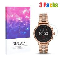 Screen Protector for Fossil Q Venture HR Gen 4 9H Hardness Tempered Glass 3pcs