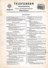Service Manual-Anleitung für Telefunken Kavalier