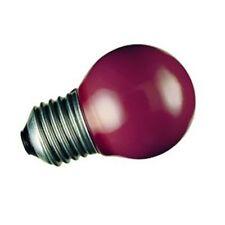 1 lampadina sfera globo faretto SYLVANIA ROSSA 25W E27 G45 presepio decor natale