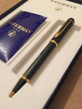 Rare Vintage Waterman Man 200 Green Wood Ball Pen-NEW OLD STOCK-MINT