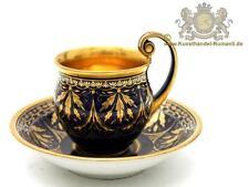 Meissen marcolini prunkgedeck, taza con mucho gold & cobalto