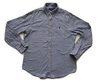 Ralph Lauren Men's Button Down Shirt Large L Classic Plaid Long Sleeve Flannel